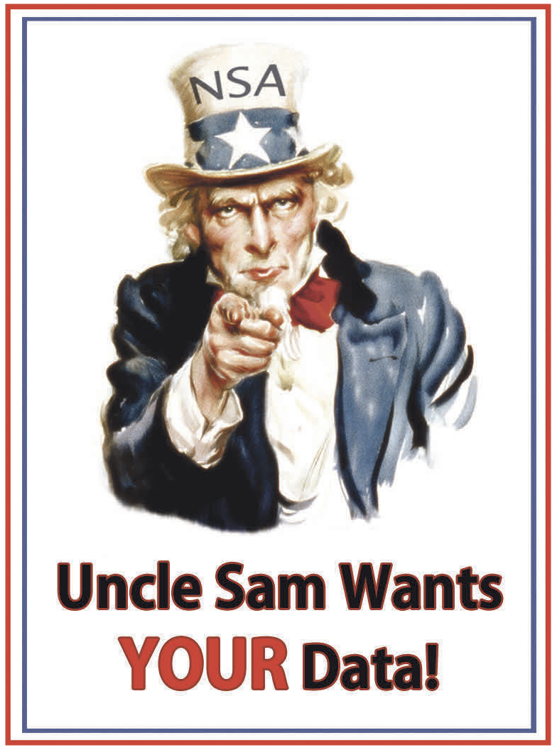 Thema Datensicherheit: ein Uncle Sam-Plakat