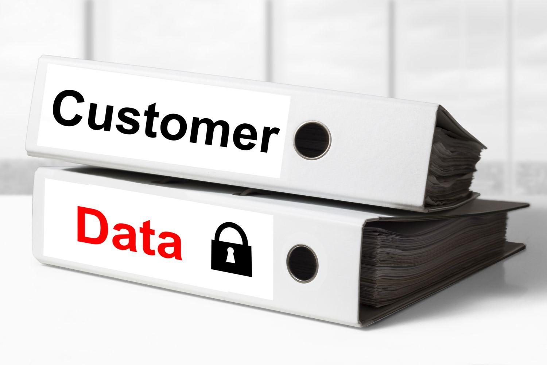 EU-Datenschutz-Grundverordnung. Ein Ordner mit der Aufschrift