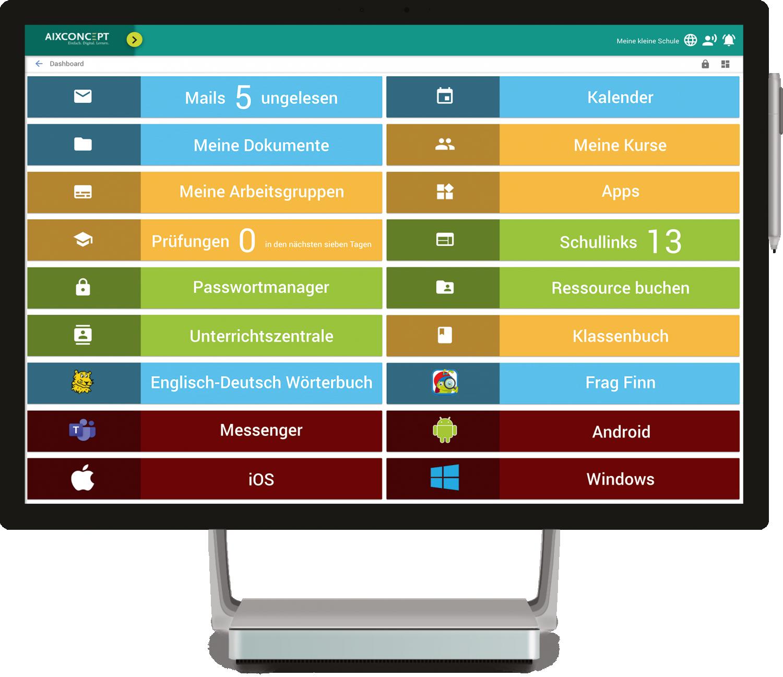 PC mit Benutzeroberfläche von MNSpro Cloud