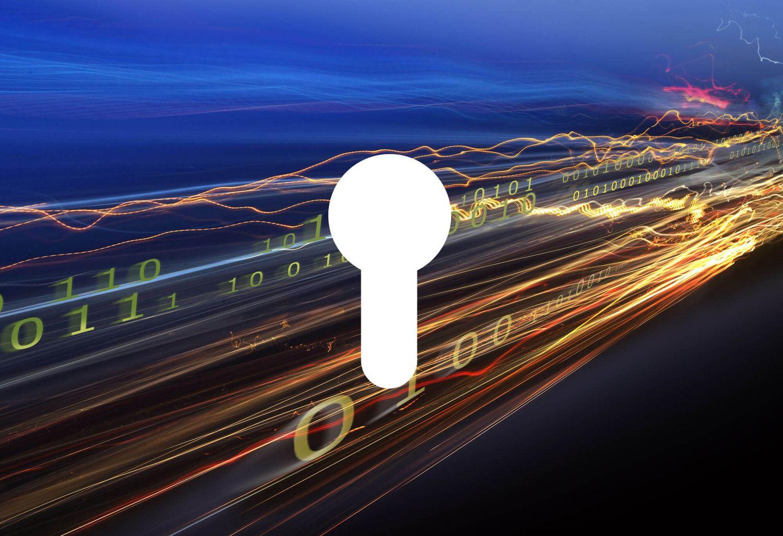 abstraktes Bild zur Datensicherheit. Thema: Security Operations Center
