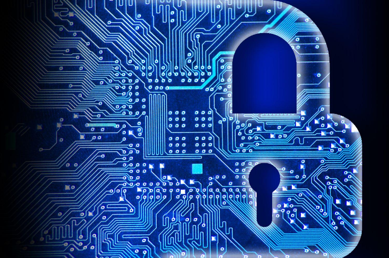 Abstrahierte Darstellung eines Vorhängeschlosses. Security-Lösungen für Unternehmen spielen eine immer wichtigere Rolle